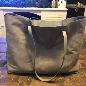 Grey Faux Suede Purse